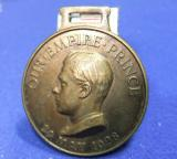 Medal fob empire day 1928 our empire prince god king country edward commemorative