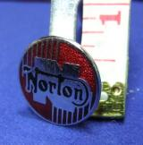 Norton motor cycle bike badge advert advertising 1960s 70s rocky horror