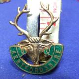 Girl guides county hertfordshire badge crest member membership brooch
