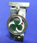 Girl guides silver thanks badge brooch 1966 good service to guiding promise