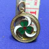 Girl guides gold thanks badge fob pendant  good service to guiding 1923 award