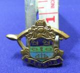 Wishbone Bangor coat of arms badge brooch souvenir