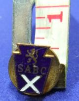 Scotttish association of boys clubs lapel badge sabc