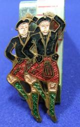 Song Dance badge Highland Fling Jig scottish dancers brooch