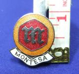 Montessa motor cycle bike badge advert advertising