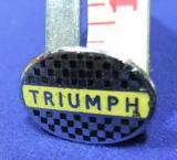 Triumph motor cycle bike badge advert advertising 1960s