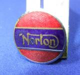 Norton motor cycle bike badge advert