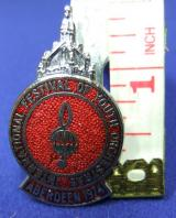 INT festival youth orchestras badge aberdeen 1974
