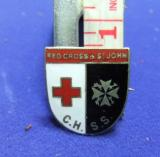 WW2 badge Red cross & St John CHSS central hospital supply service home front