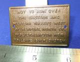mini railway sign eastern western valleys gws system brass plate station