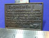 mini railway sign enginemen district metropolitan electric lines brass plate