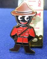 robertsons golly badge brooch canadian mountie 1980s pointed feet