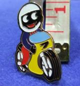 robertsons golly badge brooch motor cycle motorcyclist 1980s
