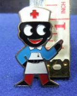 robertsons golly badge brooch nurse 1980s pointed feet