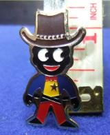 robertsons golly badge brooch cowboy 1980s pointed feet
