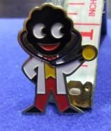 robertsons golly badge brooch doctor 1980s pointed feet