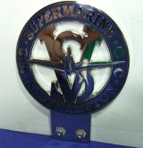 car grille badge supermarine motor club spitfire ww2