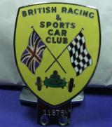 BARC car grille badge British Racing And Sports Car Club