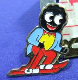 Robertsons golly badge brooch skier without bubble 1980s