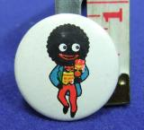 Robertsons golly tin button badge 1950s curly hair