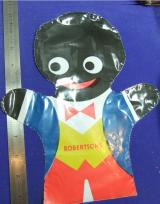 Robertsons golly hand puppet polythene advert advertising